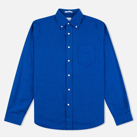 Мужская рубашка Gant Rugger Basketweave Dark Ocean Blue