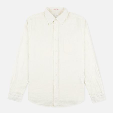 Gant Rugger Basketweave Men's Shirt Off White