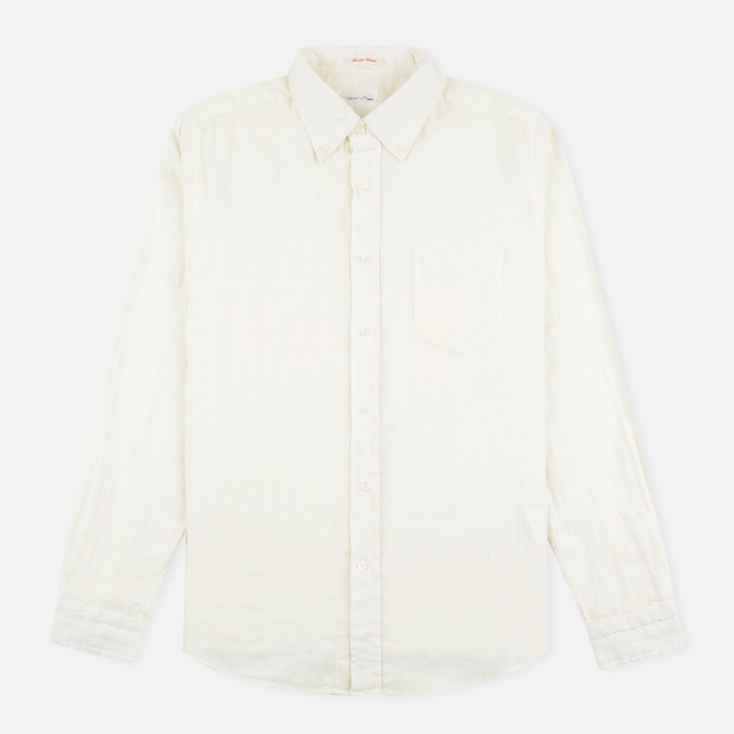 Мужская рубашка Gant Rugger Basketweave Off White