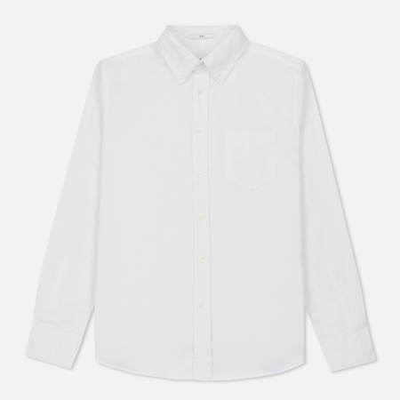 Мужская рубашка Gant Rugger Kick-Ass Oxford Slub Slim Fit BD White