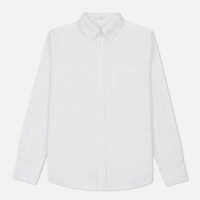 Мужская рубашка Gant Rugger Kick-Ass Oxford Slub Slim Fit BD White