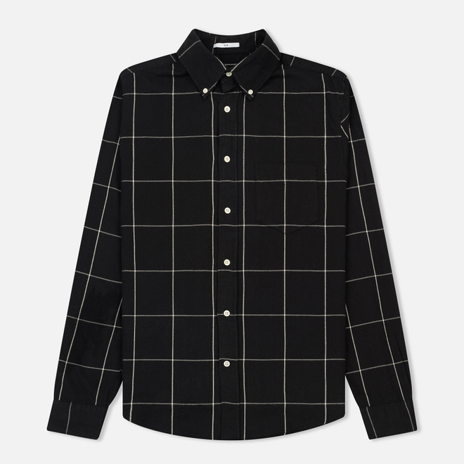 Мужская рубашка Gant Rugger Windblown Flanel Check Slim BD Black