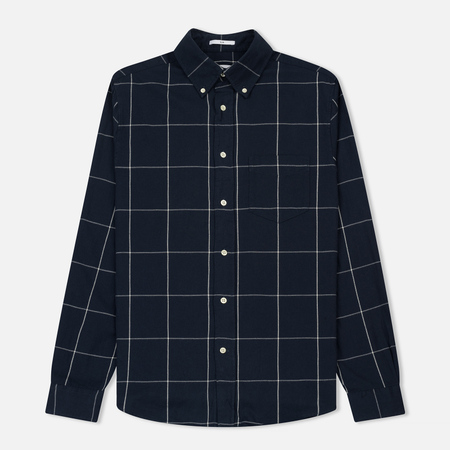 Мужская рубашка Gant Rugger Windblown Flanel Check Slim BD Marine