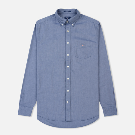 Мужская рубашка Gant The Oxford Regular Fit BD Persian Blue