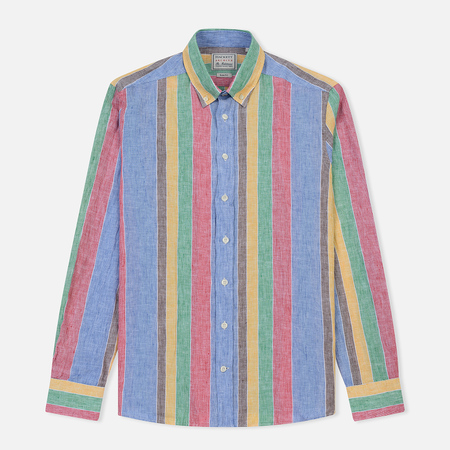 Мужская рубашка Hackett Archive Multicolor Linen Multi