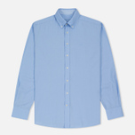 Мужская рубашка Hackett Dyed Oxford Brompton Slim Fit Baby Blue фото- 0