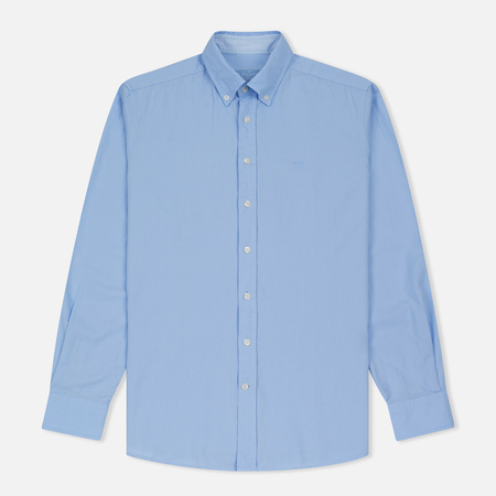 Мужская рубашка Hackett Dyed Oxford Brompton Slim Fit Baby Blue