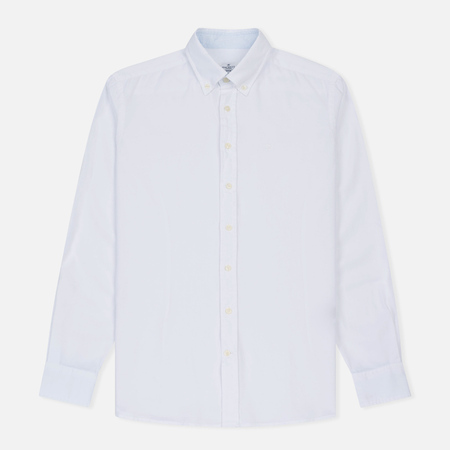 Мужская рубашка Hackett Dyed Oxford Brompton Slim Fit Optic White