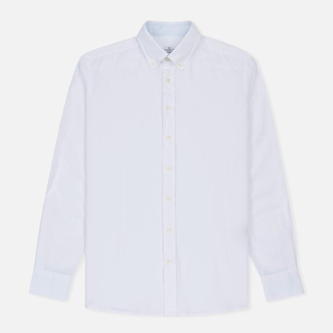 Мужская рубашка Hackett Dyed Oxford Brompton Slim Fit Optic White