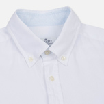 Мужская рубашка Hackett Dyed Oxford Brompton Slim Fit Optic White фото- 1
