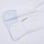 Мужская рубашка Hackett Dyed Oxford Brompton Slim Fit Optic White фото- 3