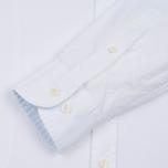 Мужская рубашка Hackett Dyed Oxford Brompton Slim Fit Optic White фото- 4