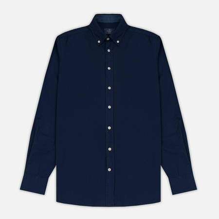 Мужская рубашка Hackett Dyed Oxford Brompton Slim Fit Washed Navy