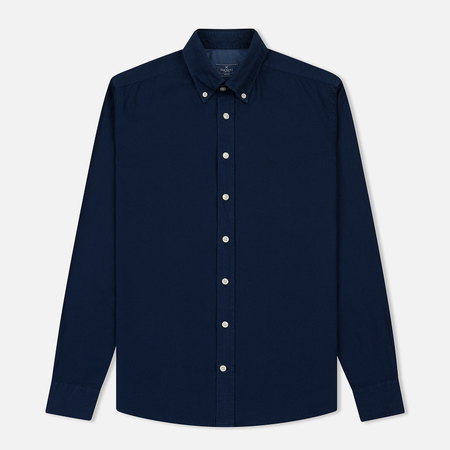 Мужская рубашка Hackett Garment Dye Delave Oxford Atlantic