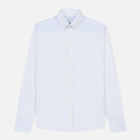 Мужская рубашка Hackett Garment Dye Delave Oxford Optic White