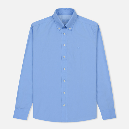Мужская рубашка Hackett Garment Dye Delave Oxford Sky