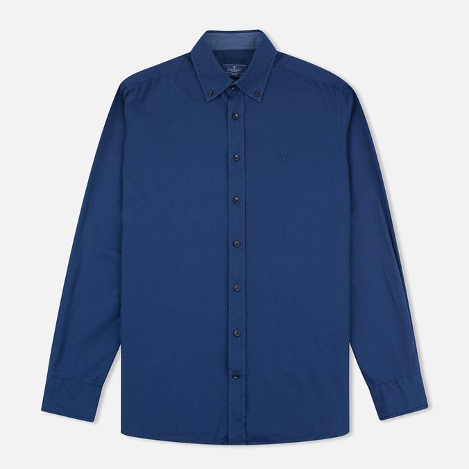 Мужская рубашка Hackett Garment Dyed Oxford Navy