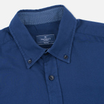 Мужская рубашка Hackett Garment Dyed Oxford Navy фото- 1