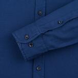 Мужская рубашка Hackett Garment Dyed Oxford Navy фото- 3