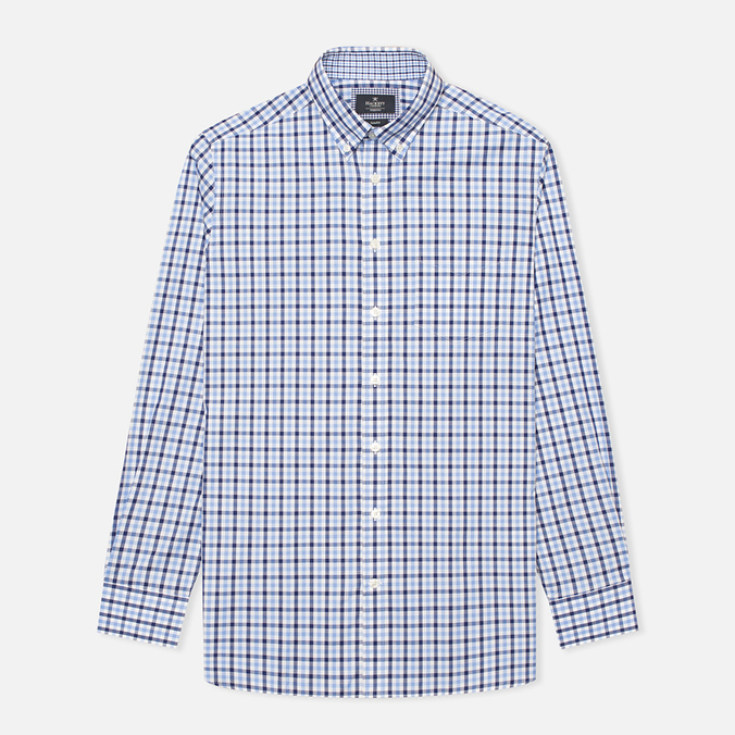 Мужская рубашка Hackett Gingham Check Navy/Blue