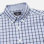 Мужская рубашка Hackett Gingham Check Navy/Blue фото- 1