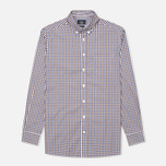 Мужская рубашка Hackett Gingham Check Navy/Brown фото- 0