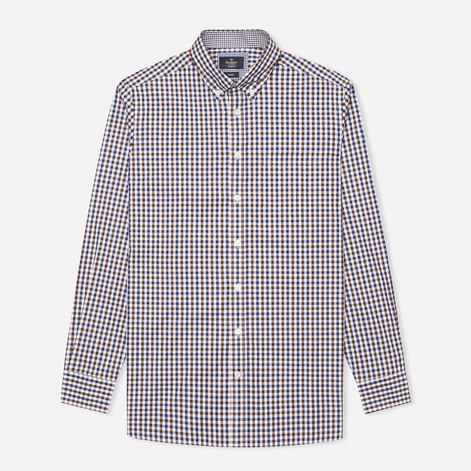 Мужская рубашка Hackett Gingham Check Navy/Brown