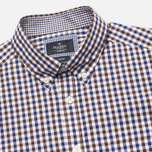 Мужская рубашка Hackett Gingham Check Navy/Brown фото- 1