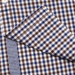 Мужская рубашка Hackett Gingham Check Navy/Brown фото- 3