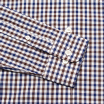 Мужская рубашка Hackett Gingham Check Navy/Brown фото- 2
