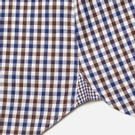 Мужская рубашка Hackett Gingham Check Navy/Brown фото- 4