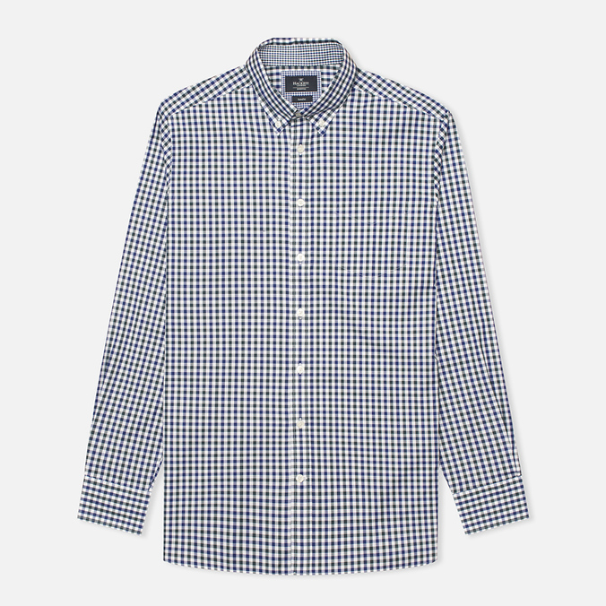 Мужская рубашка Hackett Gingham Check Navy/Green