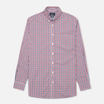 Мужская рубашка Hackett Gingham Check Navy/Wine фото- 0