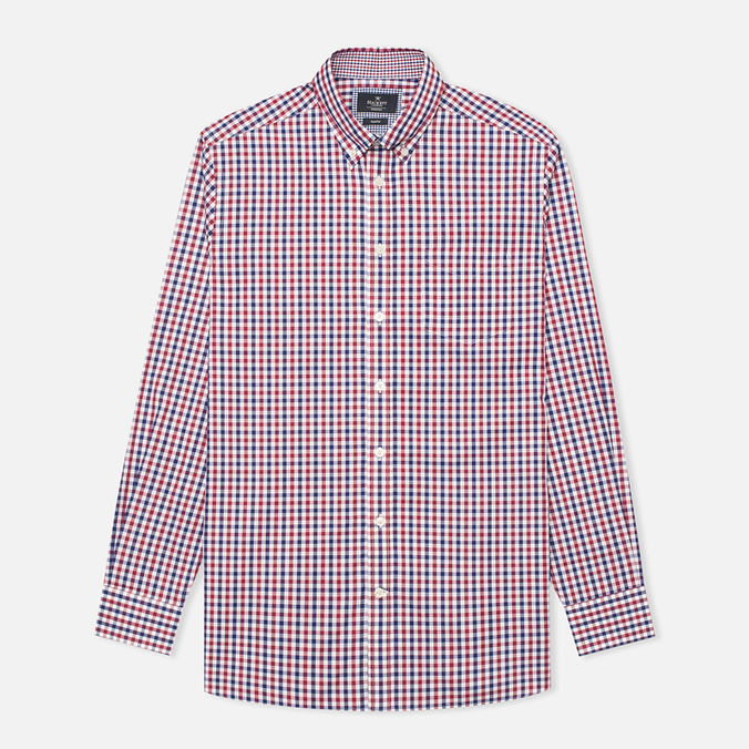 Мужская рубашка Hackett Gingham Check Navy/Wine