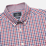 Мужская рубашка Hackett Gingham Check Navy/Wine фото- 1