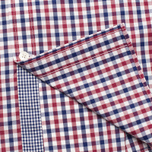 Мужская рубашка Hackett Gingham Check Navy/Wine фото- 4
