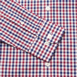 Мужская рубашка Hackett Gingham Check Navy/Wine фото- 2