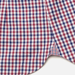 Мужская рубашка Hackett Gingham Check Navy/Wine фото- 3