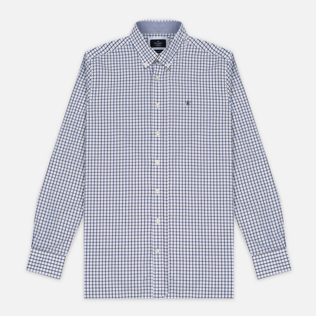 Hackett Hunters Gingham Men's Shirt Navy/Brown