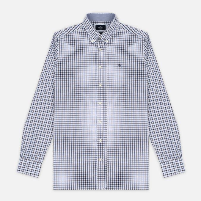 Мужская рубашка Hackett Hunters Gingham Navy/Brown