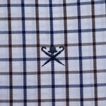 Мужская рубашка Hackett Hunters Gingham Navy/Brown фото- 2
