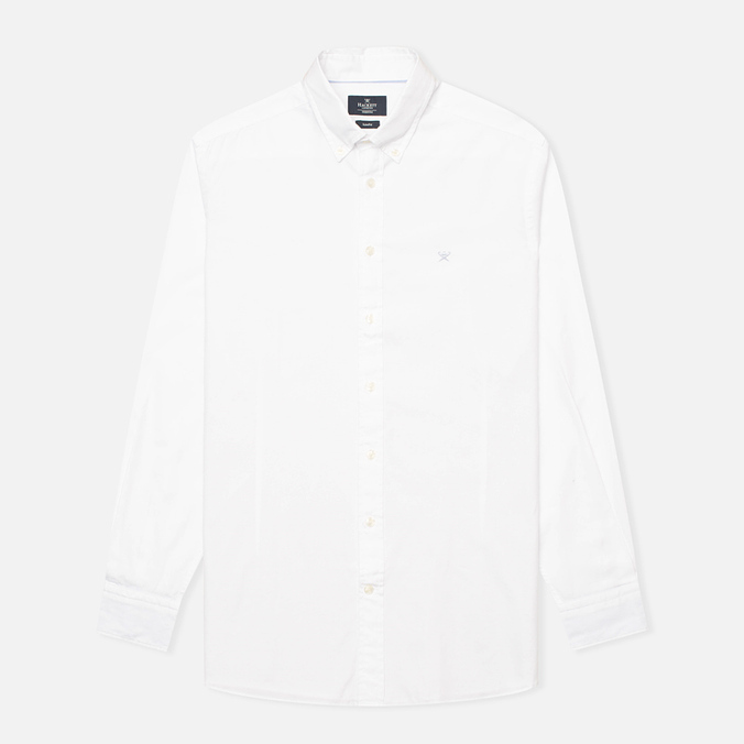Мужская рубашка Hackett Kent Steel Garment Dye White