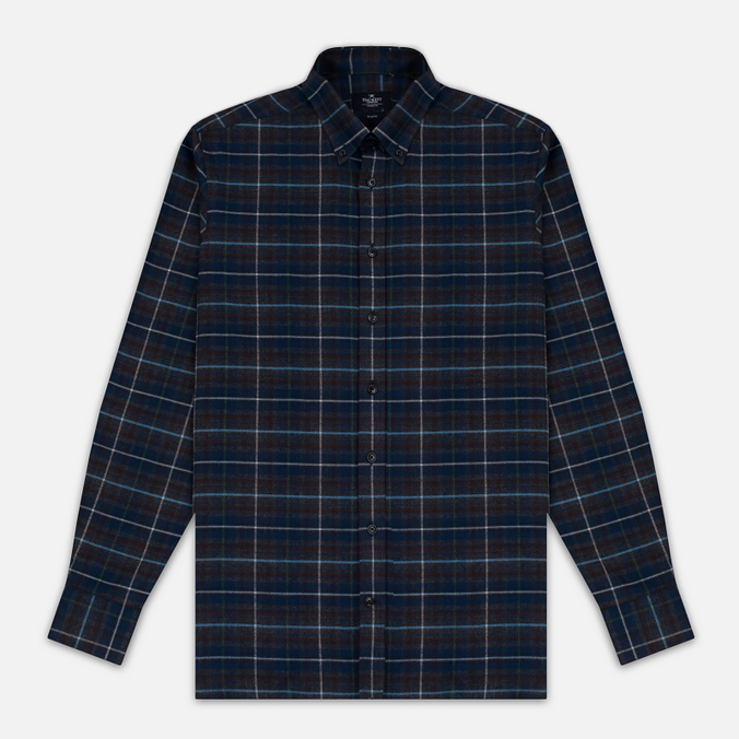 Мужская рубашка Hackett Large Plaid Grey/Multicolor