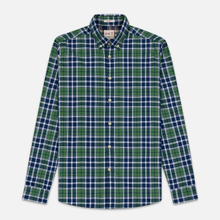 Мужская рубашка Hackett Logo HKT Bone Plaid Green/Navy фото- 0