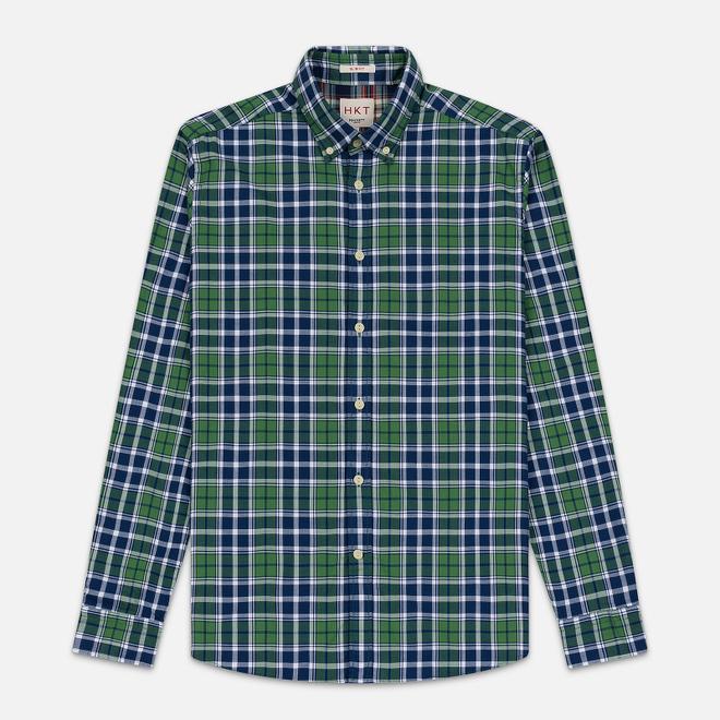 Мужская рубашка Hackett Logo HKT Bone Plaid Green/Navy