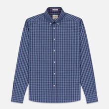 Мужская рубашка Hackett Logo HKT Delave Fil Check Navy/Blue фото- 0