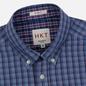 Мужская рубашка Hackett Logo HKT Delave Fil Check Navy/Blue фото - 1