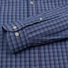 Мужская рубашка Hackett Logo HKT Delave Fil Check Navy/Blue фото- 2