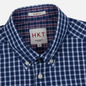 Мужская рубашка Hackett Logo HKT Delave Grid Check Navy/White фото - 1
