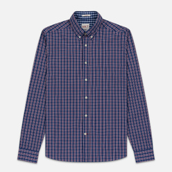 Мужская рубашка Hackett Logo HKT Delave Prep Check Navy/Red